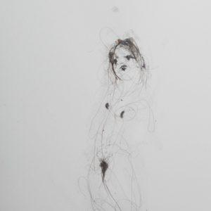 Lionel Sabatté - Projet du 17:7:18 - Poussière sur papier - 23 x 31 cm - 2018