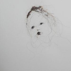Lionel Sabatté - Visage du 10:7:18 - Poussière sur papier - 23 x 31 cm - 2018