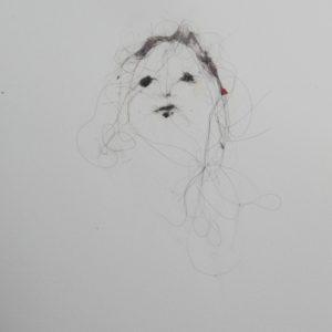 Lionel Sabatté - Visage du 11:7:18 - Poussière sur papier - 23 x 31 cm - 2018