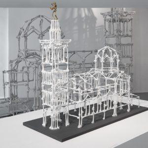 Notre Dame des os, 2009, Bronze, acier, 57 x 20 x 63 cm