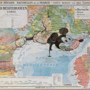 Bd Carte MiaaR , 2007, 100x120cm, feutre sur carte scolaire