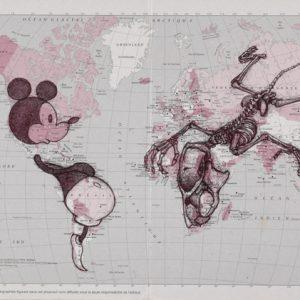 Bd carte MiaaR PTT2, 2007, stylo bille sur calendrier des Postes