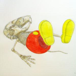 BD dessin MiiaR 4, 2010, 50x65cm, crayon et aquarelle sur papier