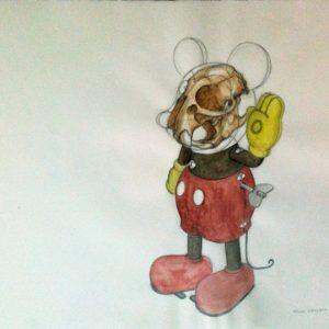 Dessin MIAAR, 2008, 50x65cm, crayon et aquarelle sur papier