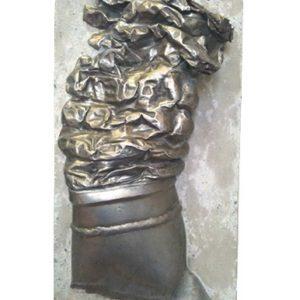 """""""Brique AZF"""" acier,béton hauteur 0,5 m 2003"""