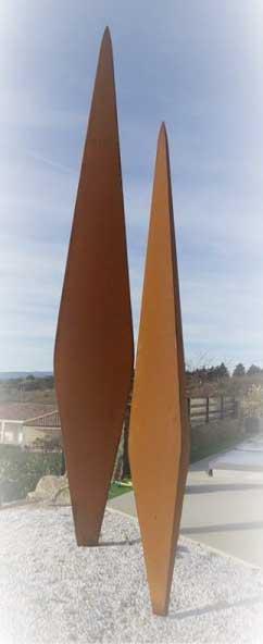 Lionel-Laussedat---Les-2-cypres---4-m---acier-corten