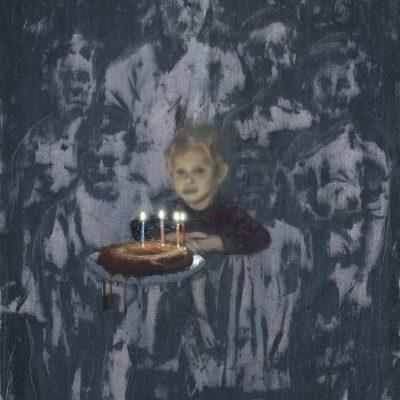 Mange tes morts, 2015, huile sur toile 132X113 cm