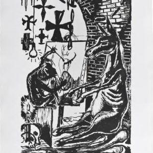 Manuel Ocampo The Bittersweet Life, 2015 format du papier : 55 × 74 cm format de la matrice : 40 × 60 cm