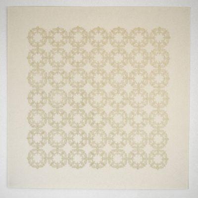 bande transparente et graphite sur papier  92 x 92cm