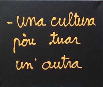 7089 [UNA CULTURA POU TUAR UN...] 2010 Acrylique sur toile 54 x 65 cm ©PN B