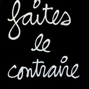 BEN - FAITES LE CONTRAIRE, 2003 Dessin correcteur blanc sur papier 30 x 21 cm INDISPONIBLE