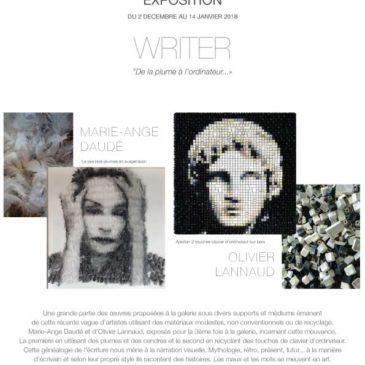 Exposition Décembre – Janvier : WRITER