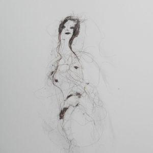 Lionel Sabatté - Projet du 15:7:18 - Poussière sur papier - 23 x 31 cm - 2018