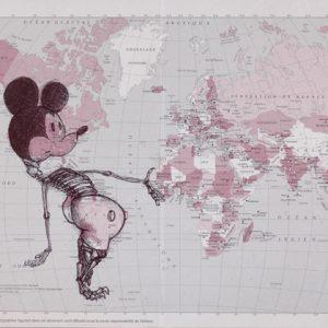 Bd carte MiaaR PTT1, 2007, stylo bille sur calendrier des Postes