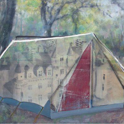 «Sous bois n°1 », 2014  huile sur toile 110X145 cm