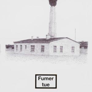 Rubinstein-2016, Fumer tue (Melk), stylo bille et collage sur papier, 32x24cm