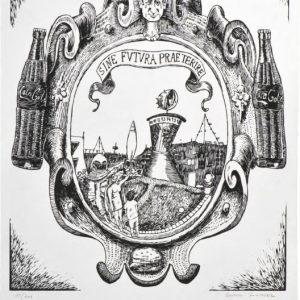 Curro González Sine futura praeterire, 2014 format du papier : 38,5 × 52,5 cm format de la matrice : 35 × 40 cm