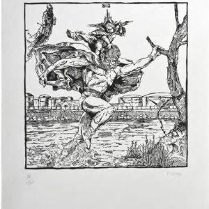 Jean-Marie Picard Saint Christophe, 2013 format du papier : 38 × 53 cm format de la matrice : 30 × 30 cm numérotés de 1/100 à 100/100