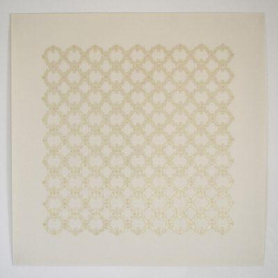 Co_3_, 2016  bande transparente et graphite sur papier  92 x 92cm