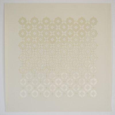 Co_4_, 2016  bande transparente et graphite sur papier  92 x 92cm
