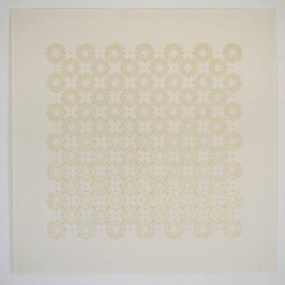 Co_5_, 2016  bande transparente et graphite sur papier  92 x 92cm