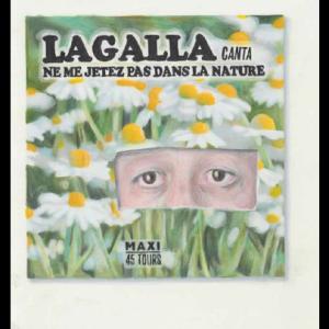 LAGALLA canta…, technique mixte sur papier, 29,7 x 21 cm, 2017
