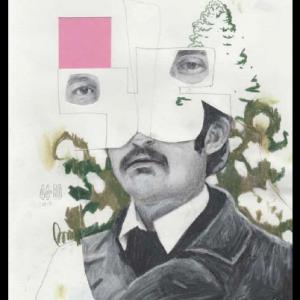 23-1, technique mixte sur papier, 29,7 x 21 cm, 2017