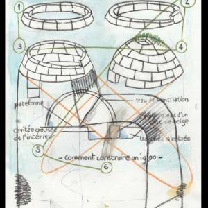 Comment construire un igloo, technique mixte sur papier, 29,7 x 21 cm, 2014