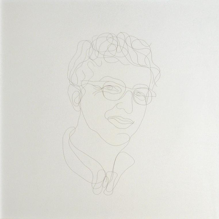 Portrait de galeriste - par C. Dadu - Cheveux sous verre