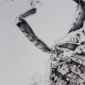 Mylène Fritchi-Roux - Sans titre - encre sur papier 51x36 cm (2)