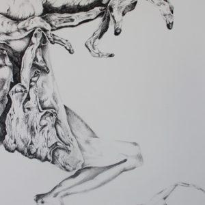 Mylène Fritchi-Roux - Sans titre - encre sur papier 51x36 cm