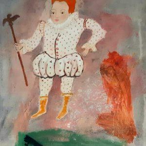 Figure à la fraise- peinture sur toile6F
