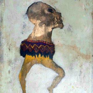 Santa muerte- Peinture mixte sur toile 80x120