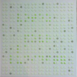 Votez pour la lucidité, 2017, acrylique sur toile & PE, 60 X 60 cm